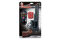 Игрушечный пистолет на пульках Edison Giocattoli Ron Smith 28см 8-зарядный с мишенью (463/33)