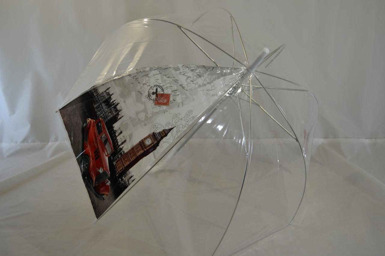 """Прозорий жіночий парасольку-тростину грибком від фірми """"Monsoon""""."""