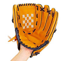 Перчатка (ловушка) для бейсбола цвет желтый PVC, р-р 10,5