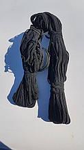 Резинка черная 4 мм плоская длина 50 м