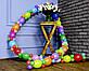 Гирлянда с воздушных шариков (радужная) /маленькие шарики/ Насос для воздушных шариков в комплекте, фото 6