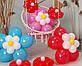 Цветы из воздушных шариков для украшения праздника (набор из семи цветков) Насос в комплекте, фото 6