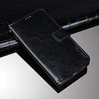 Чехол Idewei для Motorola Moto One Vision книжка с визитницей черный