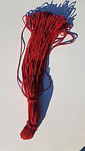 Резинка круглая 3 мм 90 м красная