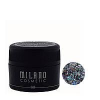 Глиттер гель для дизайна ногтей Milano Magic Glitter Gel 6 г №12
