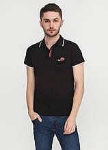 Черная футболка-поло для мужчин EL & KEN с логотипом