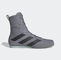 Боксерки Adidas Box Hog 3 серые, обувь для бокса Адидас