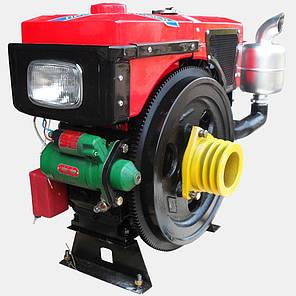Двигатель дизельный Кентавр ДД1110ВЭ с водяным охлаждением (20 л.с.) с электростартером для минитракторов, фото 2