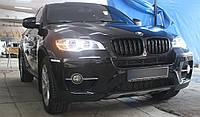 Решетка радиатора ноздри BMW X6 E71 стиль M (черный глянц)
