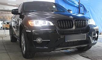 Решетка радиатора BMW X6 E71 ноздри стиль M (черный глянц)