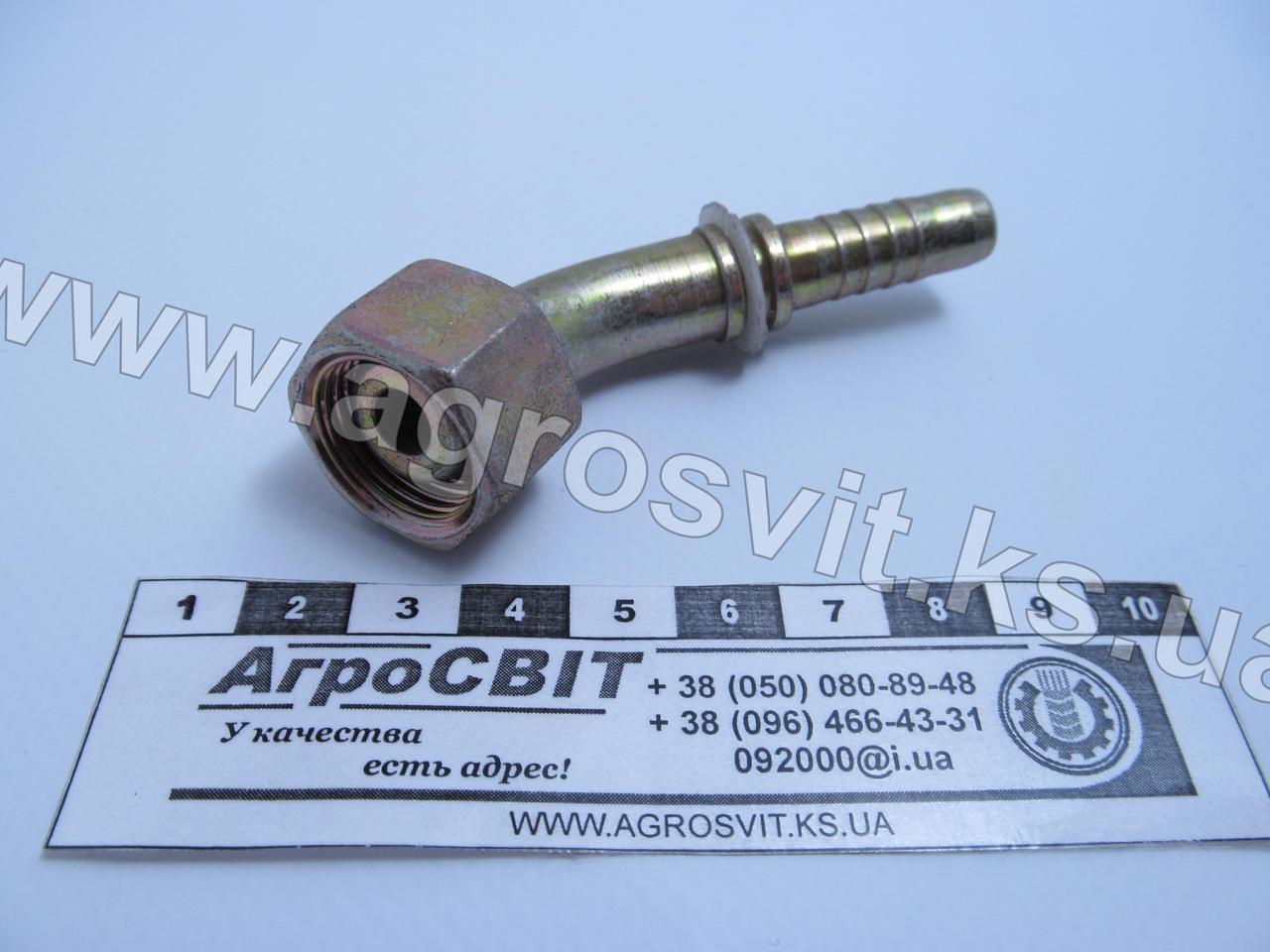Ниппель DKM М18х1,5 , под шланг dу=10 мм. (угол 45 °)