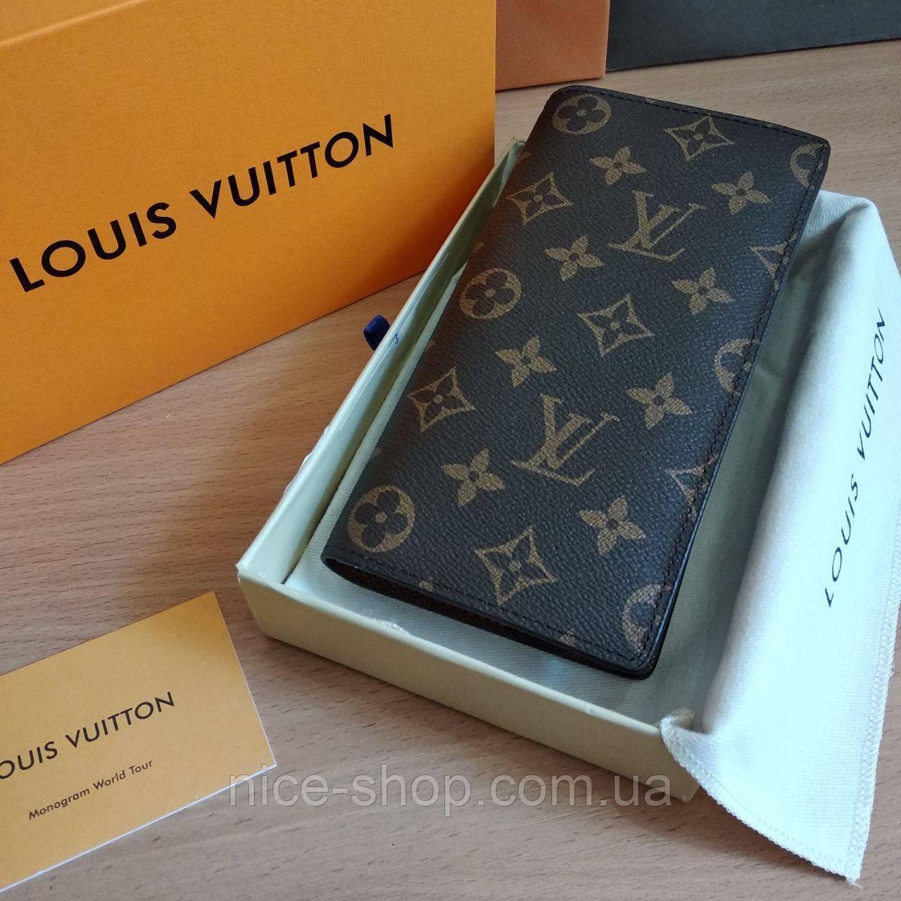 Кошелек-книжка Louis Vuitton кожаный