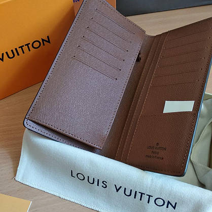 Кошелек-книжка Louis Vuitton кожаный, фото 2