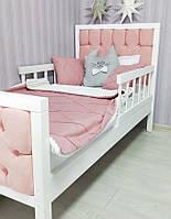 Ліжко дитяче з м`якою спинкою, ліжко дерев`яне дитяче