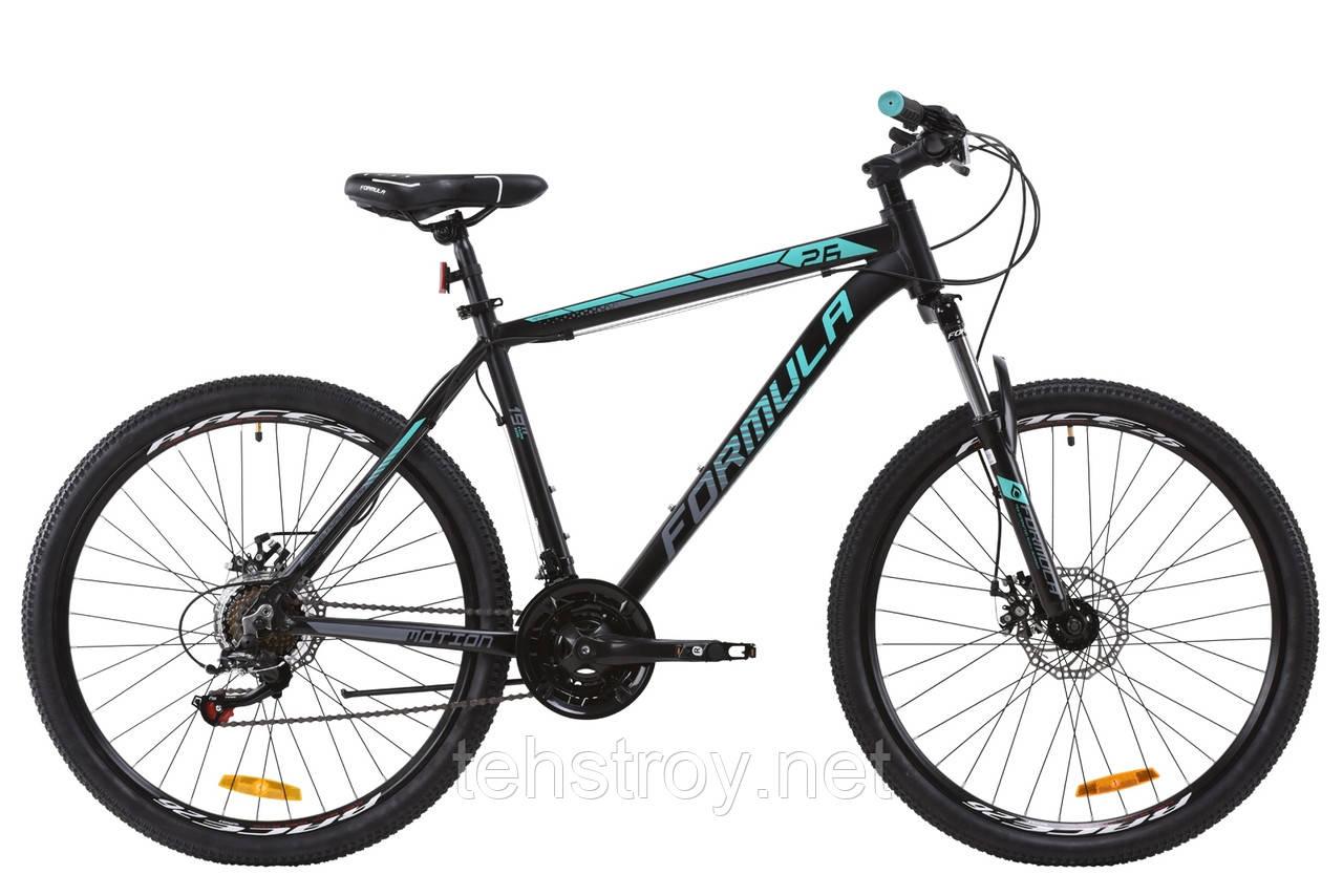 """Велосипед AL 26"""" Formula MOTION AM DD 2020 (черно-бирюзовый (м))"""