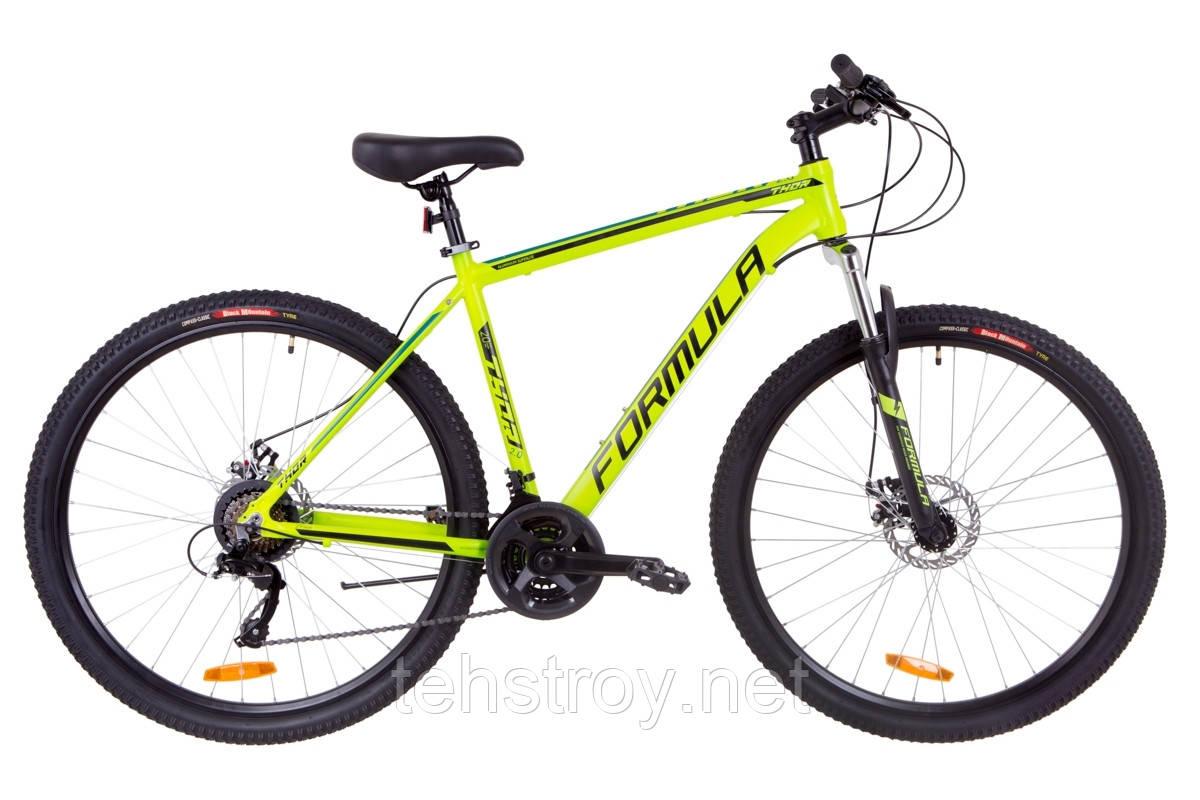 """Велосипед 29"""" Formula THOR 2.0 AM 14G DD Al 2019 (черно-серый с бирюзовым (м))"""