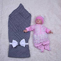 Летний набор Глория+Мальвина серый+розовый, фото 1