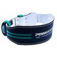 Пояс для тяжелой атлетики Power System Dedication PS-3260 Black/Green XL, фото 1