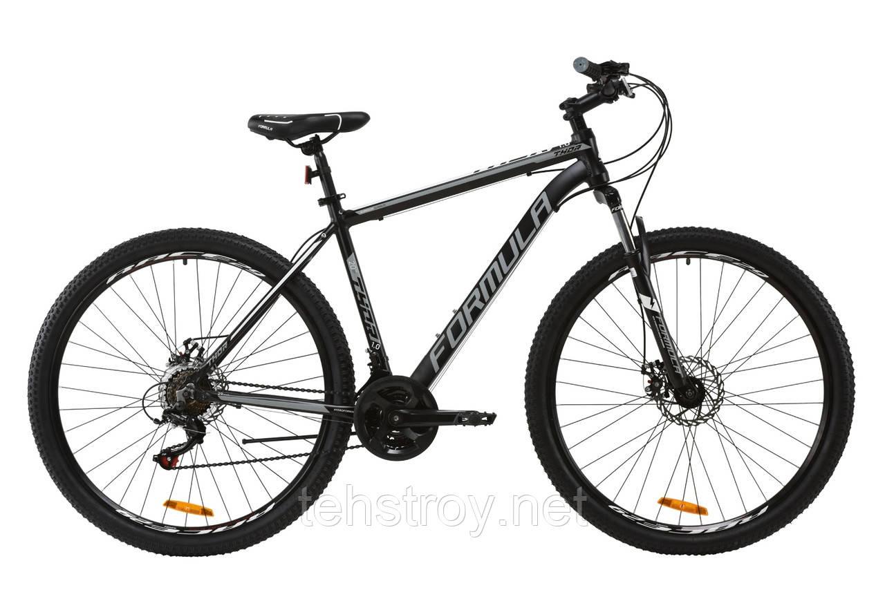 """Велосипед AL 29"""" Formula THOR 1.0 AM DD 2020 (черно-серый с белым (м))"""