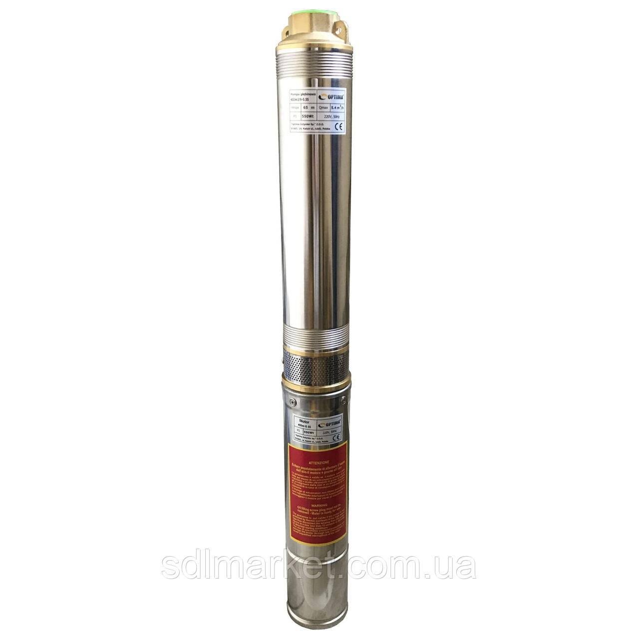 Насос свердловинний OPTIMA 4SDm6/14 1.5 кВт 88м (10795)