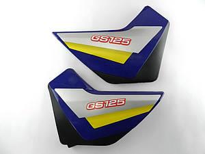 Пластик средних боковин SONIK (синие)  пара