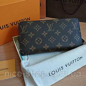 Кошелек кожаный Louis Vuitton монограмм на молнии