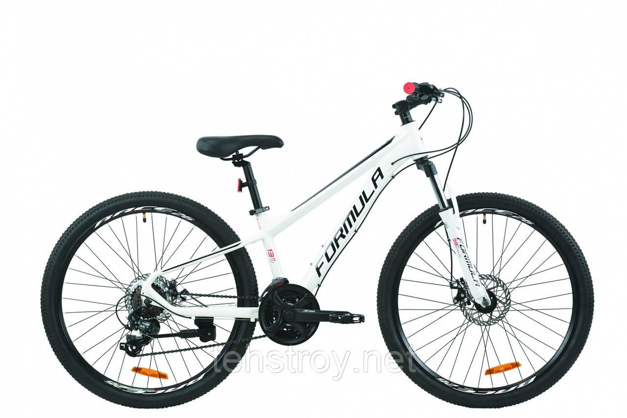 """Велосипед 26"""" Formula F-1 DD 2020 (бело-черный с красным)"""
