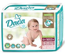 Памперсы подгузники Дада Extra Soft Dada 4+ MAXI+ 42 шт. 9-20 кг