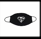 Маска на лицо черная с принтом / Комплект 3 штуки., фото 6