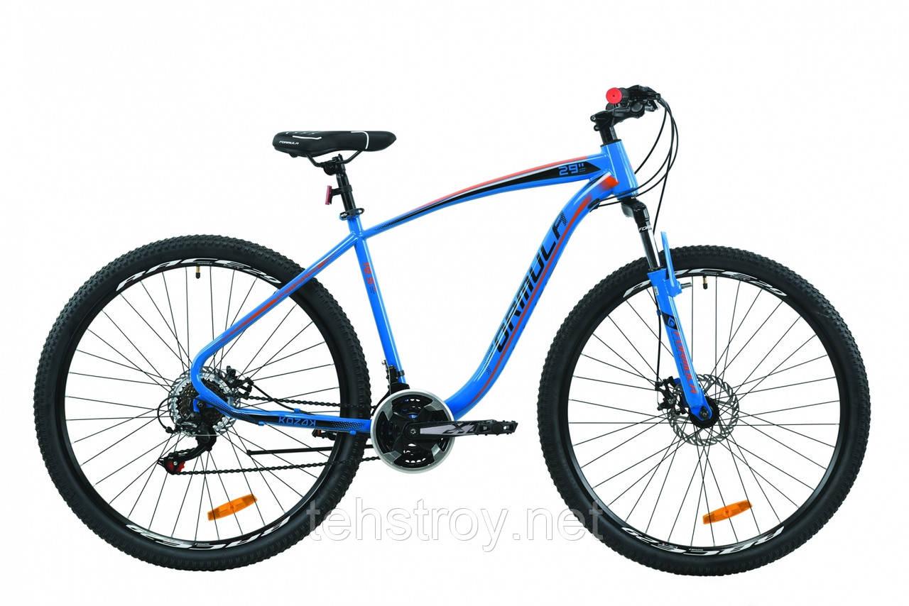 """Велосипед 29"""" Formula KOZAK 2020 (сине-оранжевый )"""
