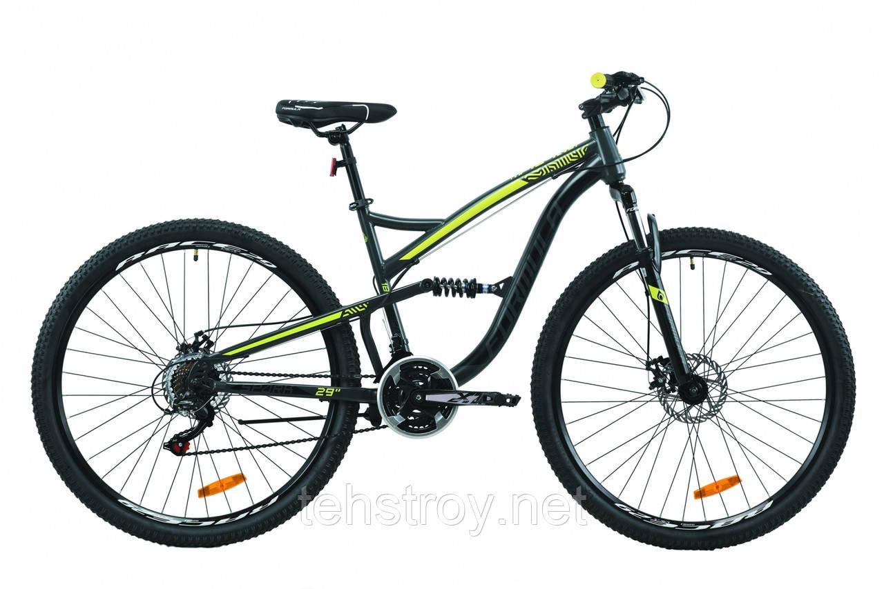 """Велосипед 29"""" Formula SPARK DD 2020 (серо-черный с желтым (м))"""