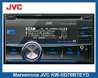 Магнитола JVC KW-SD70BTEYD, Автомагнитола,Магнитола 2 DIN Bluetooth (Блютуз)