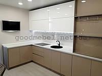 Кухня модерн с фасадами из AGT панелей (еврокухня), заказать изготовление. К-104