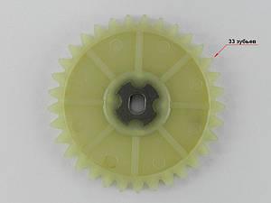 Звезда маслонасоса 4т GY6-50/60/80сс, (33 зуба) пластмассовая