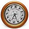 Настінні годинники Камасутра великі (бронзовий)