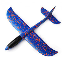 Самолёт пенопластовый метательный трюкач 48см синий