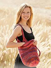 Перевод описания вязания сумки-шоппера «Sunset»