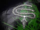 Серебряная цепочка и крестик, фото 3