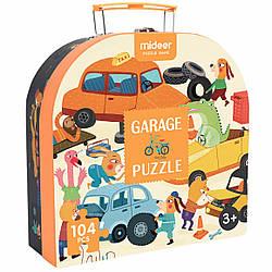 """Пазл в чемоданчине """"Гараж"""" (104 элемента) MiDeer Toys"""