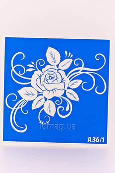 Boni Kasel Трафарет для био тату 15x15 см - А36/1, 5 шт