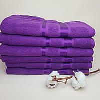 Банное полотенце махра хлопок фиалковое(Турция)