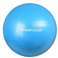 Фітбол М'яч для фітнесу 85 см Profiball для гімнастики пілатесу схуднення вагітних дітей Блакитний
