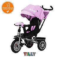 Трехколесный велосипед с родительской ручкой Tilly Cayman T-381/3 с пультом Розовый