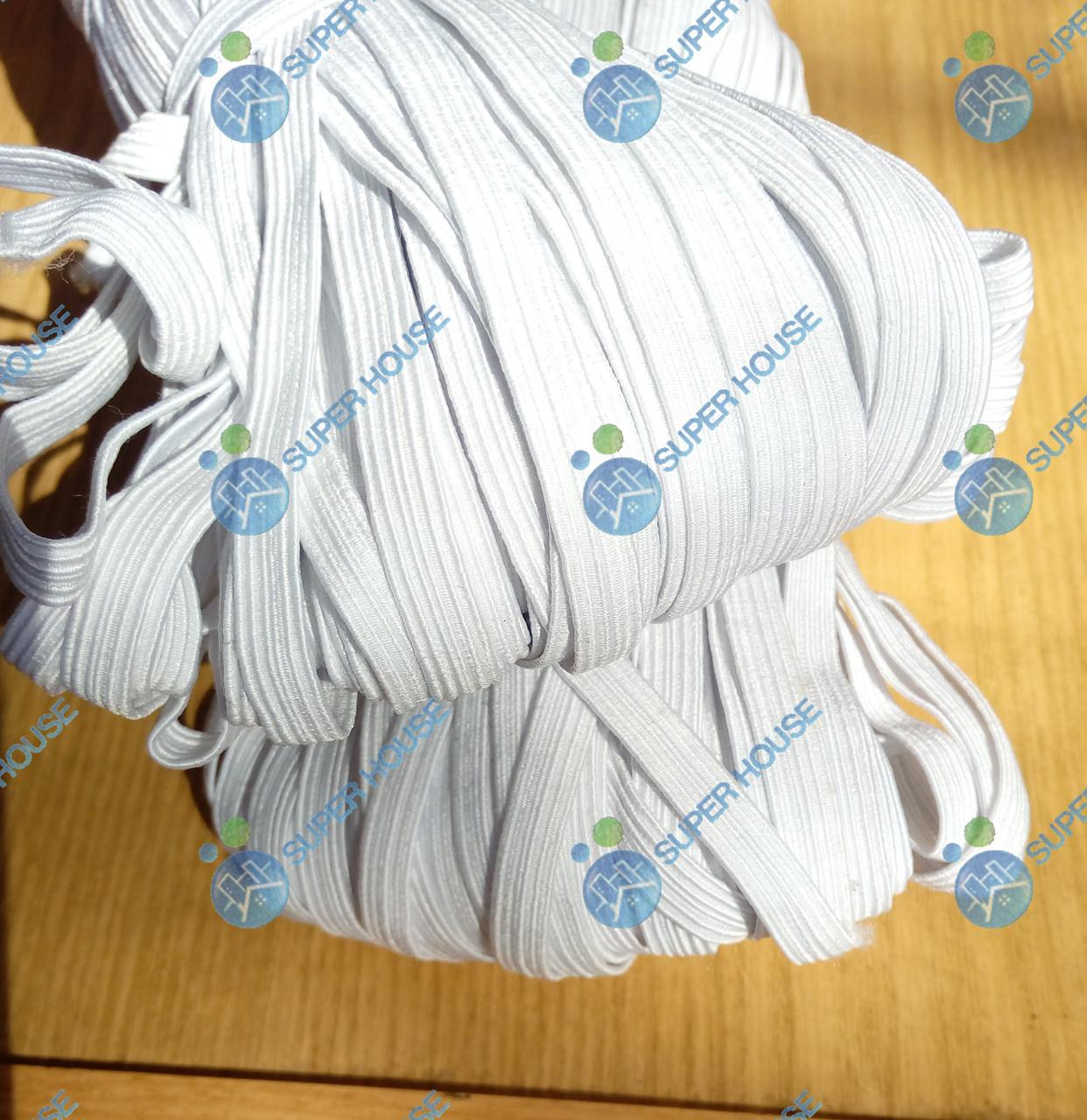 Резинка для білизни плетена 7-8мм синтетика 100м біла