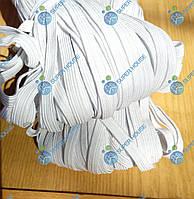Резинка бельевая плетеная 7-8мм синтетика 100м белая, фото 1
