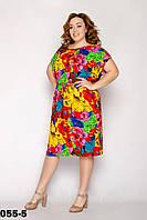 Повседневное женское платье летнее размеры 50-54
