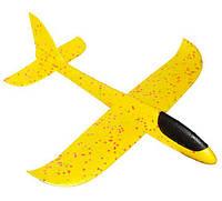Самолёт пенопластовый метательный трюкач 48см желтый