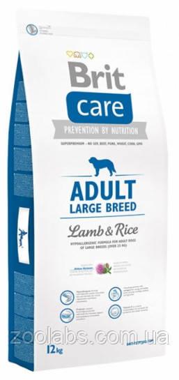 Корм Brit Care для собак крупных пород   Brit Care Adult Large Breet Lamb & Rice 12,0 кг