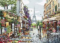 Набор для вышивания нитками Luca-S Цветущий Париж (B2365)