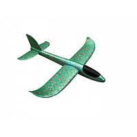 Самолёт пенопластовый метательный трюкач 48см зелёный